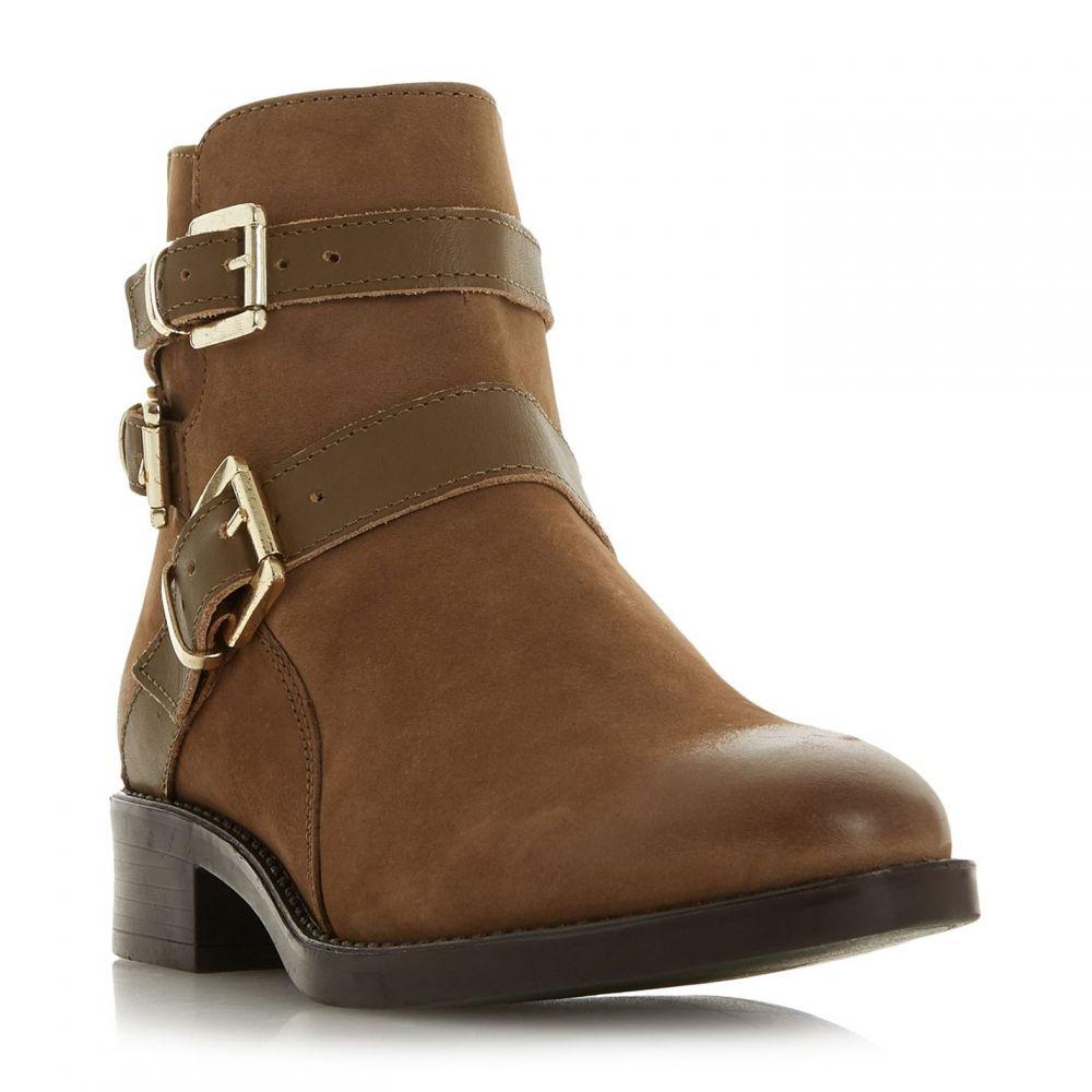 デューン Dune レディース ブーツ ショートブーツ シューズ・靴【Pheonixx Buckle Detail Ankle Boots】Taupe