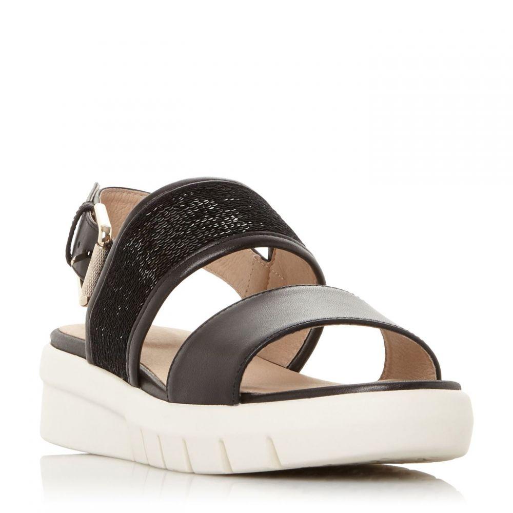ジェオックス Geox レディース サンダル・ミュール シューズ・靴【D Wimbley Sand Sequin Buckle Sandals】Black