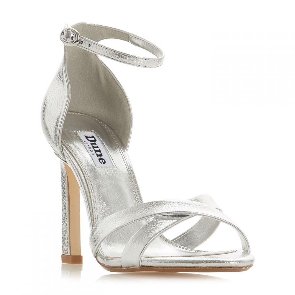 デューン Dune レディース サンダル・ミュール シューズ・靴【Madalay High Heel Strappy Sandals】Silver