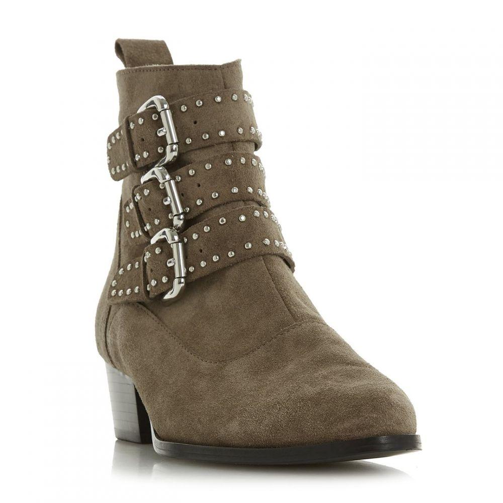 デューン Dune レディース ブーツ ショートブーツ シューズ・靴【Pagent Buckle Detail Ankle Boots】Taupe