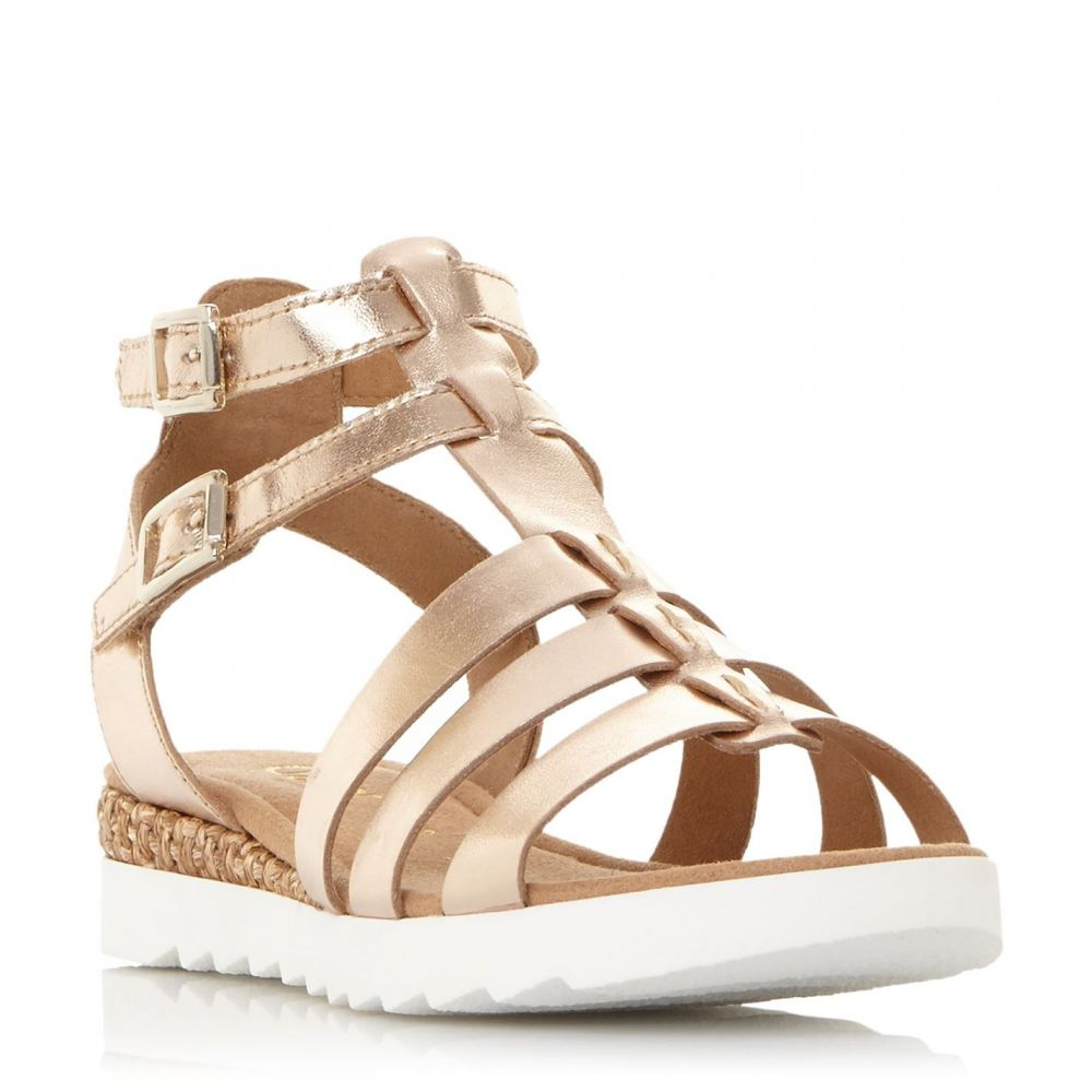 ガボール Gabor レディース サンダル・ミュール ウェッジソール シューズ・靴【Felicity Gladiator Wedge Sandals】Rose Gold