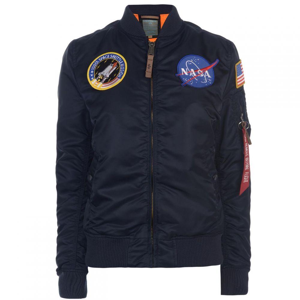 アルファ インダストリーズ Alpha Industries レディース ブルゾン ミリタリージャケット アウター【NASA MA1 Bomber Jacket】Rep Blue