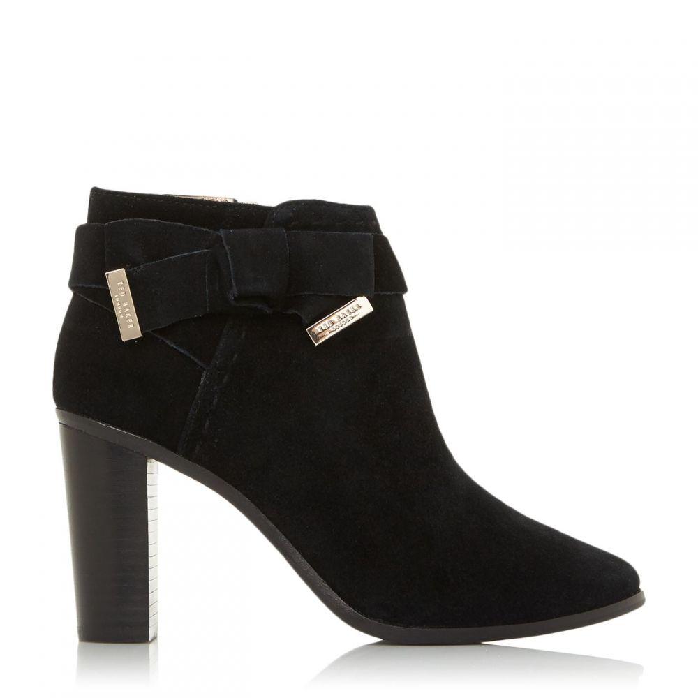 テッドベーカー Ted Baker レディース ブーツ ショートブーツ シューズ・靴【Anaedi Hh Suede Tie Ankle Boots】Black