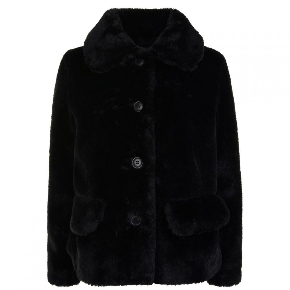 スタンド STAND レディース ジャケット アウター【Noemie Faux Fur Jacket】Black