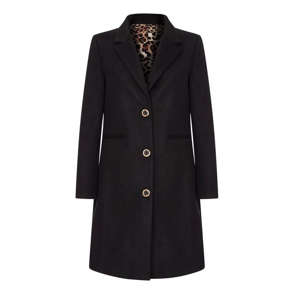 ユミ Yumi レディース コート アウター【Fitted Coat With Buttons】Black
