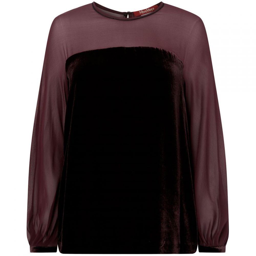マックスマーラ Max Mara Studio レディース ブラウス・シャツ トップス【Sheer sleeve silk shirt】Black