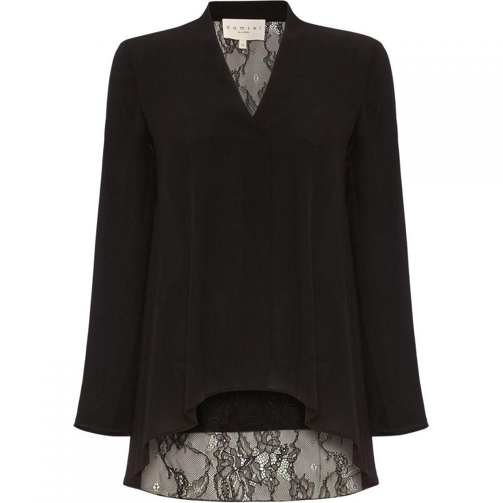 ダンセル Damsel in a Dress レディース ブラウス・シャツ Vネック トップス【Ruthie V Neck Lace Back Blouse】Black