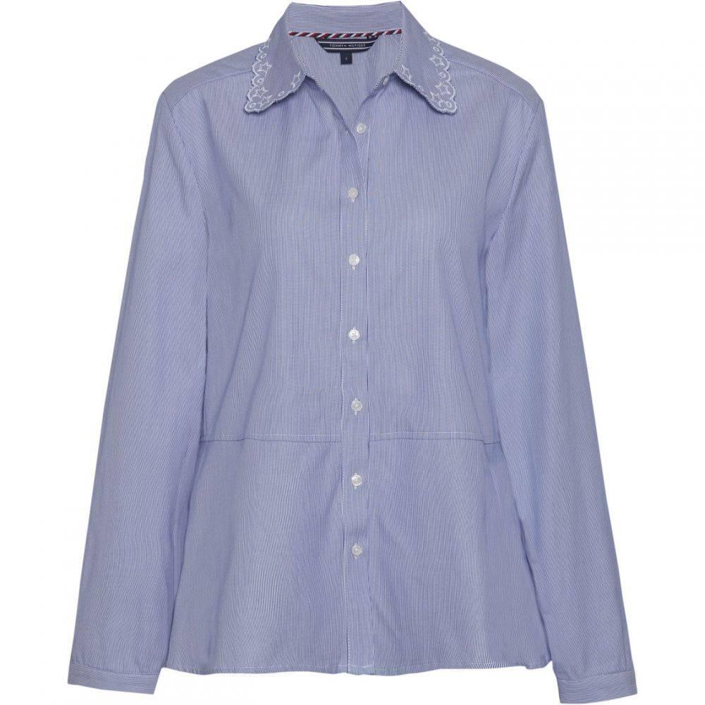 トミー ヒルフィガー Tommy Hilfiger レディース ブラウス・シャツ トップス【Haven A Line Oxford Shirt】Blue