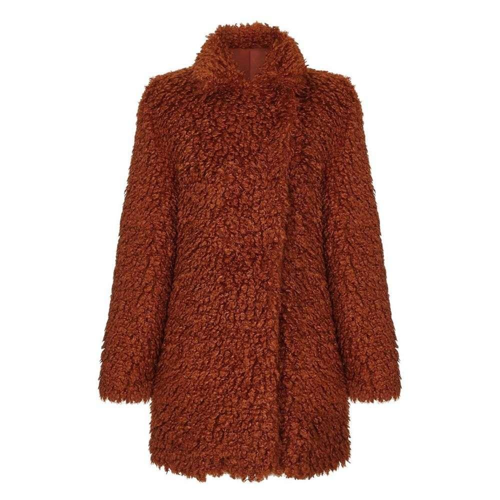 ユミ Yumi レディース コート アウター【Cosy Fluffy Coat】Tan