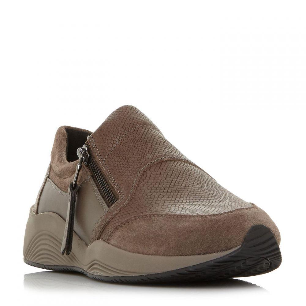 ジェオックス Geox レディース スニーカー シューズ・靴【D Omaya A Side Zip Trainers】Brown