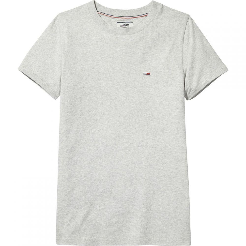 トミー ジーンズ Tommy Jeans レディース Tシャツ トップス【Classic T-Shirt】Light Grey