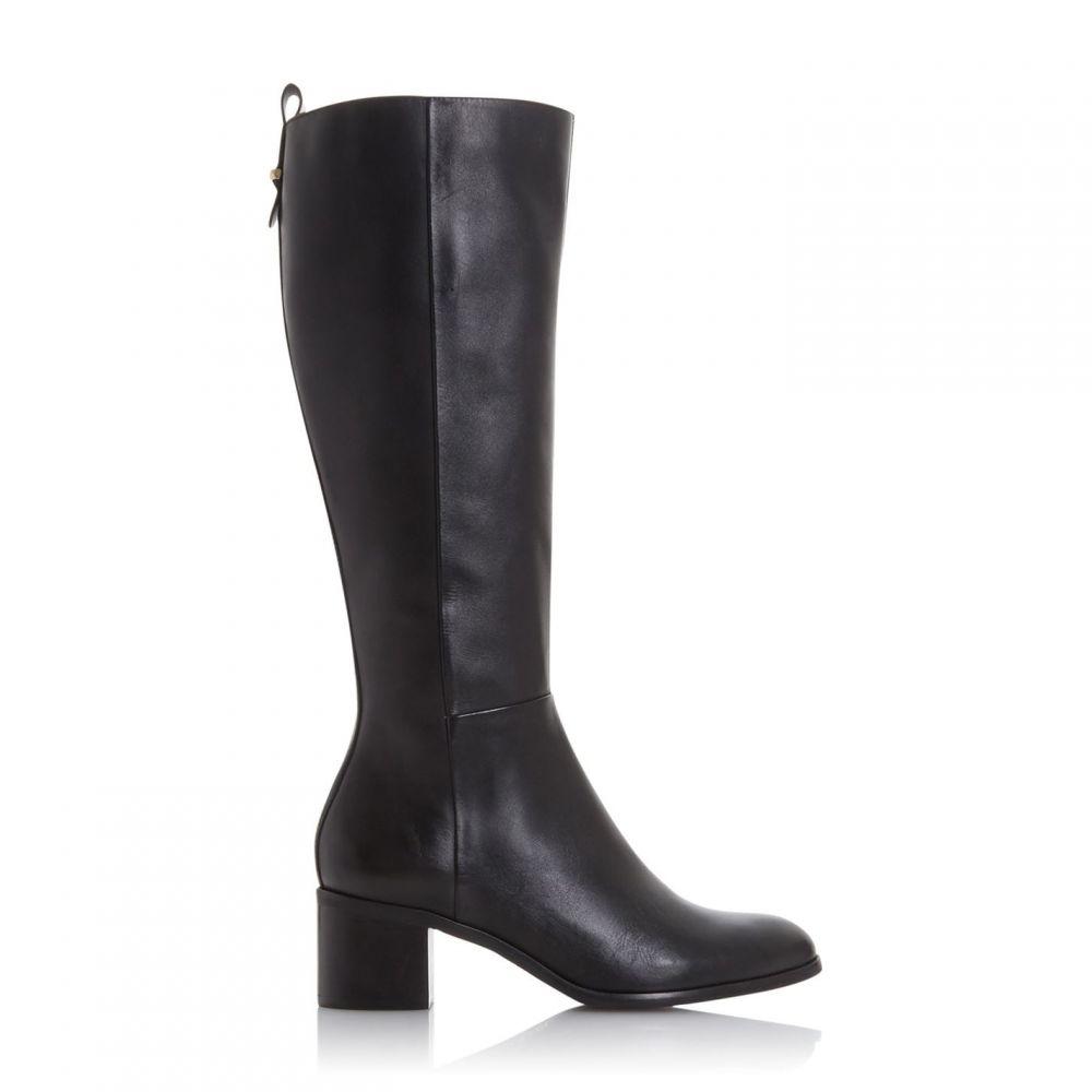 デューン Dune レディース ブーツ シューズ・靴【Trilly Metal Stirrup Detail Leather Riding Boots】Black