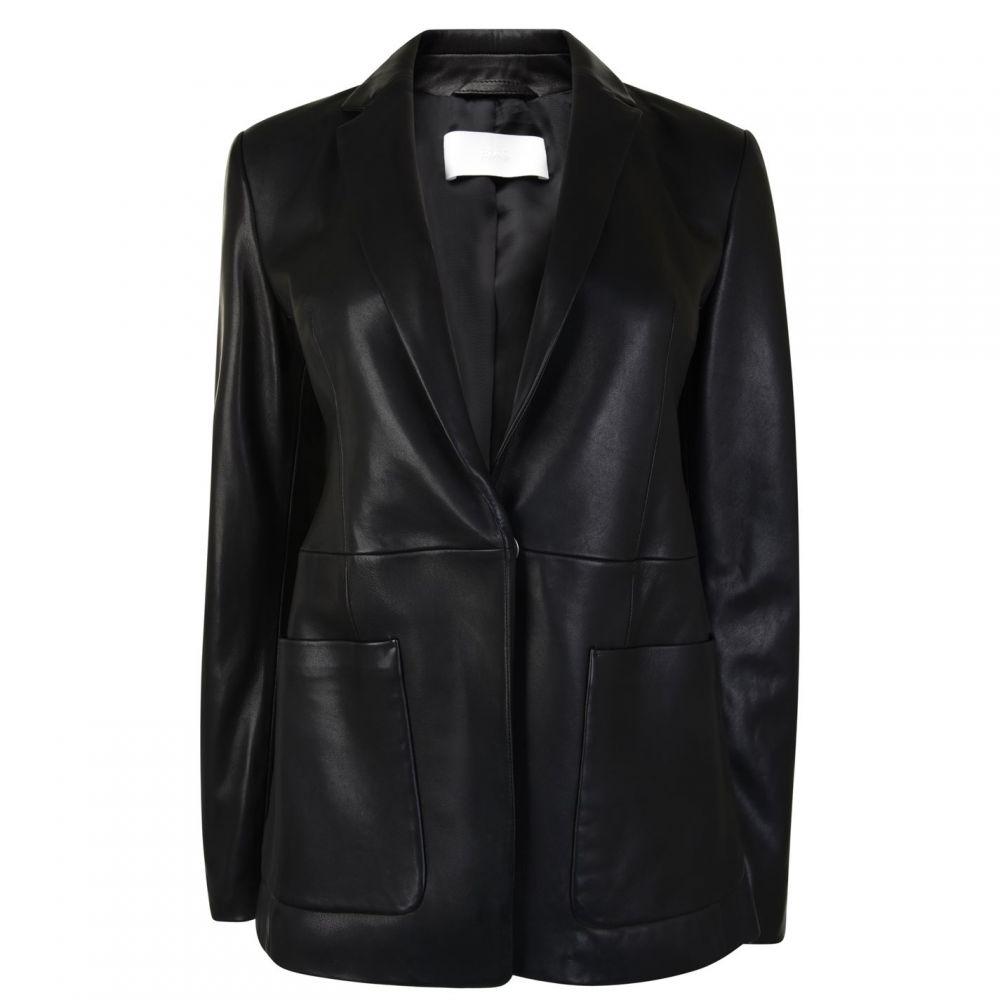 ヒューゴ ボス Boss レディース レザージャケット アウター【Sanewton Leather Blazer】BLACK