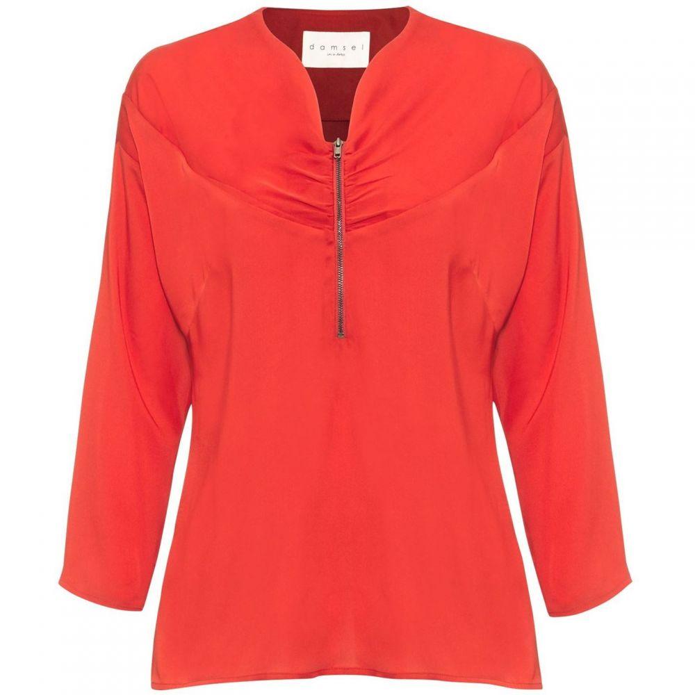 ダンセル Damsel in a Dress レディース ブラウス・シャツ トップス【Alessia Zip Front Blouse】Red