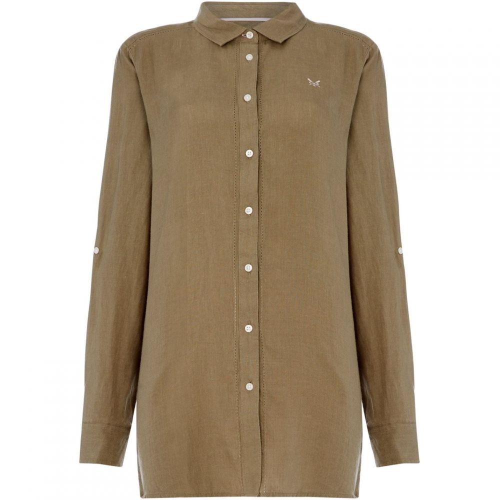 クルークロッシングカンパニー Crew Clothing Company レディース ブラウス・シャツ トップス【Linen Solid Shirt】Sage