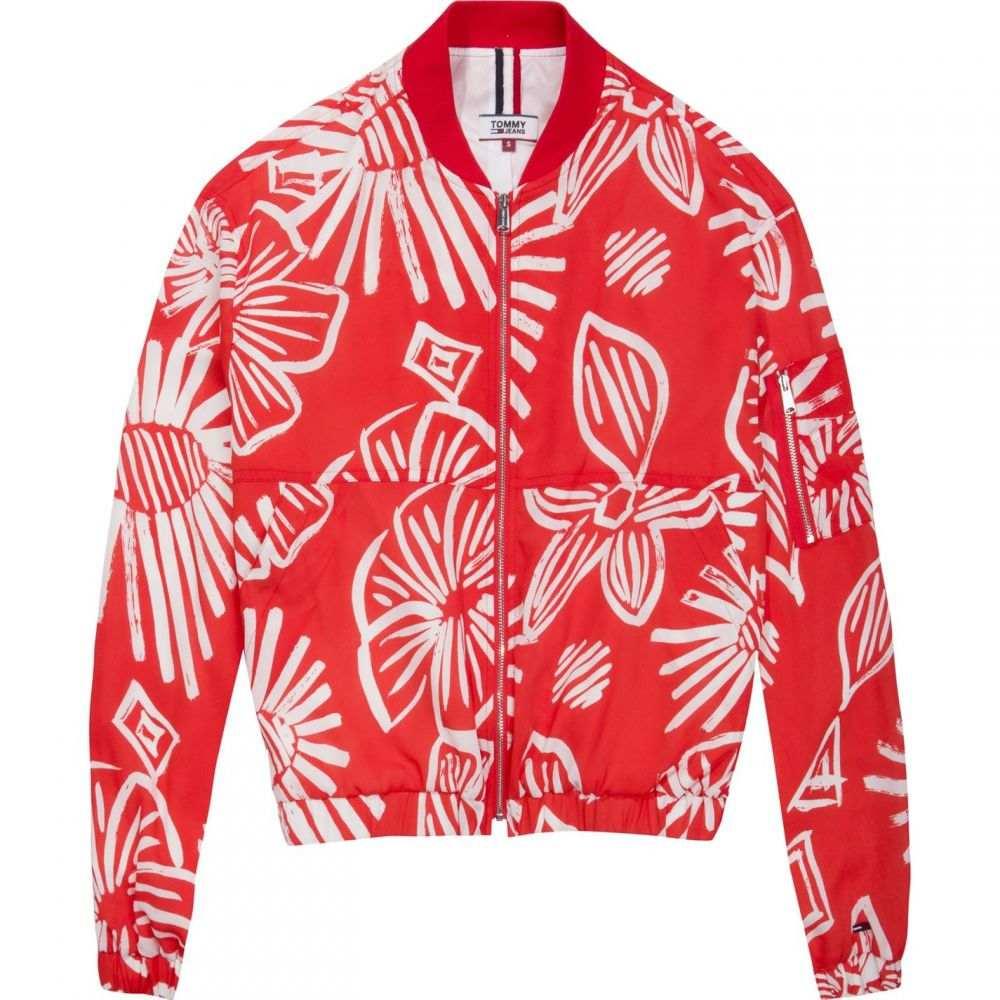 トミー ジーンズ Tommy Jeans レディース ブルゾン アウター【Summer Floral Print Bomber】Bright Red