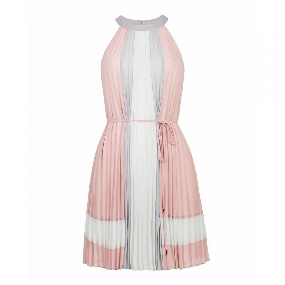 テッドベーカー Ted Baker レディース ワンピース ワンピース・ドレス【Lellian Contrast Paneling Pleated Dress】Pink Multi