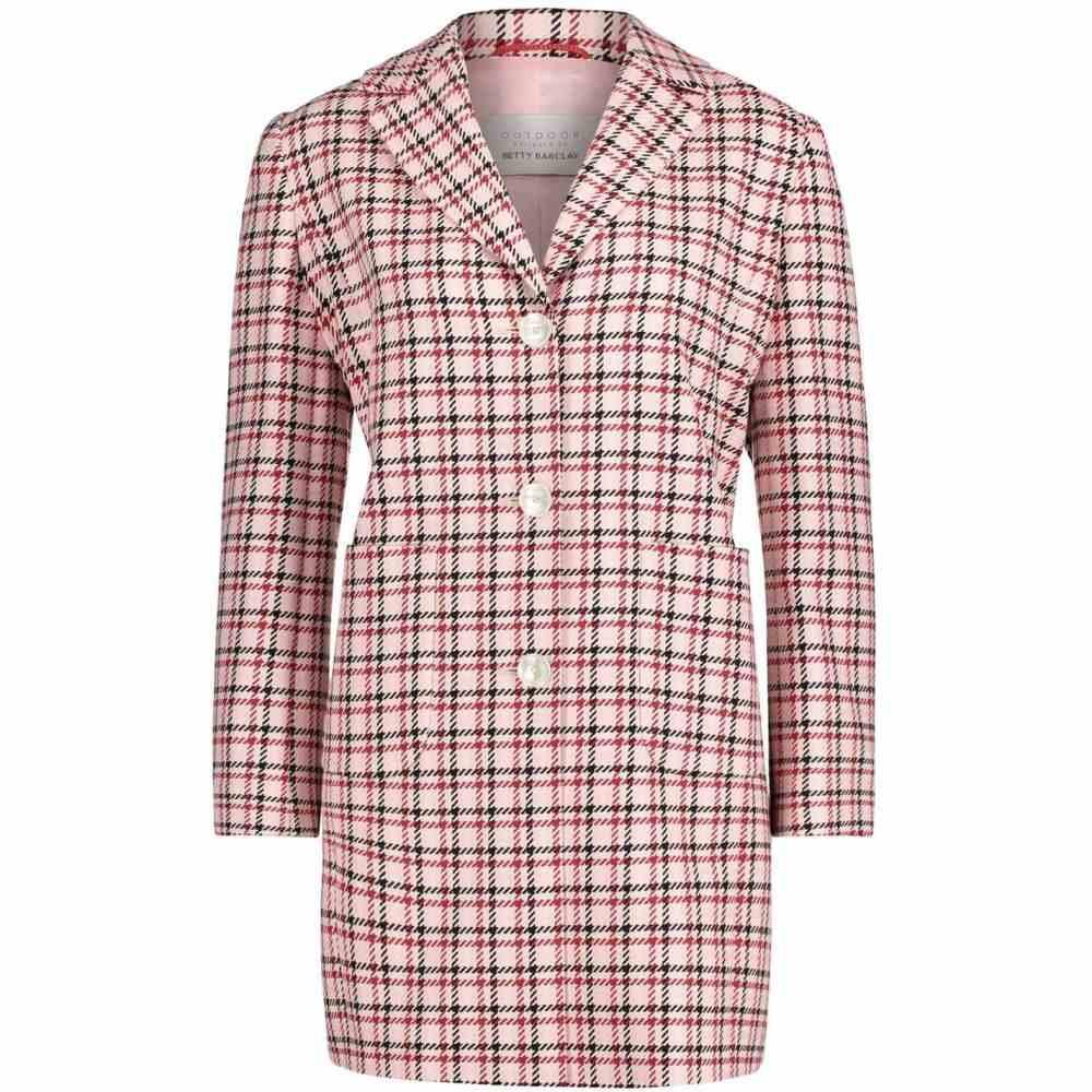 ベティー バークレイ Betty Barclay レディース コート アウター【Check Coat】Rose/Red