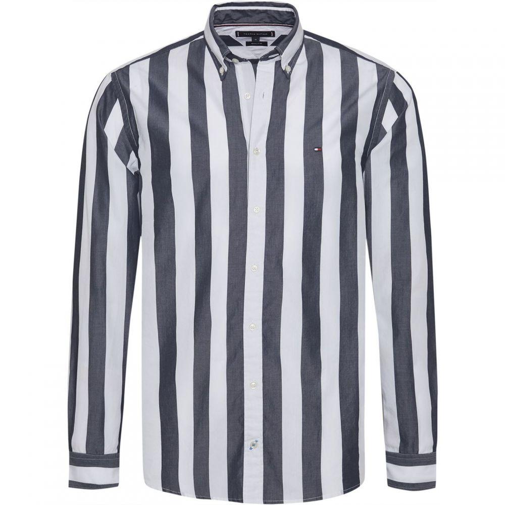 トミー ヒルフィガー Tommy Hilfiger レディース ブラウス・シャツ トップス【Candy Stripe Shirt】White and Navy