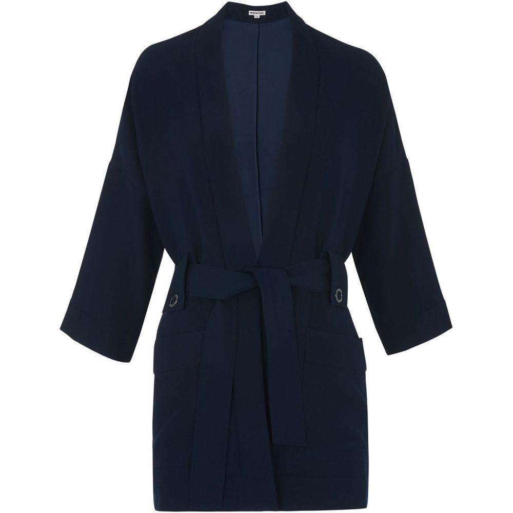 ホイッスルズ Whistles レディース ジャケット アウター【Kimono Sleeve Jacket】Navy