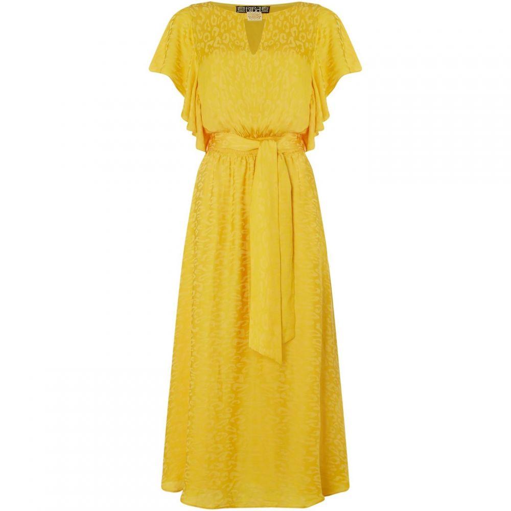 ビバ Biba レディース ワンピース ワンピース・ドレス【Animal Jacquard Dress】Yellow