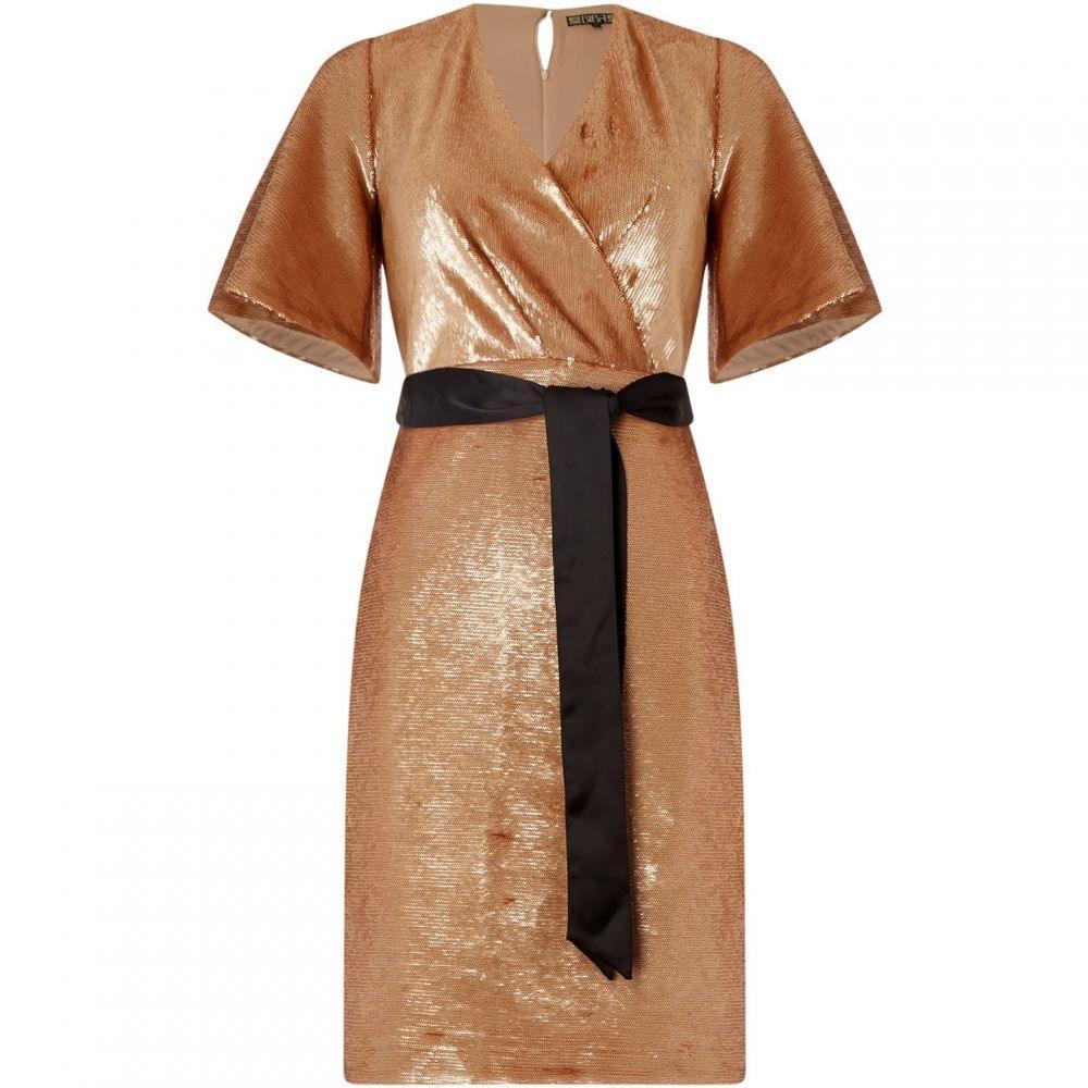 ビバ Biba レディース ワンピース ラップドレス ワンピース・ドレス【SEQUIN WRAP DRESS Rose Gold 8】Rose Gold