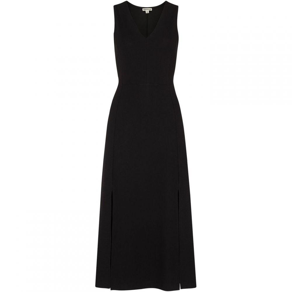 ホイッスルズ Whistles レディース ワンピース ワンピース・ドレス【Frill Jersey Dress】Black