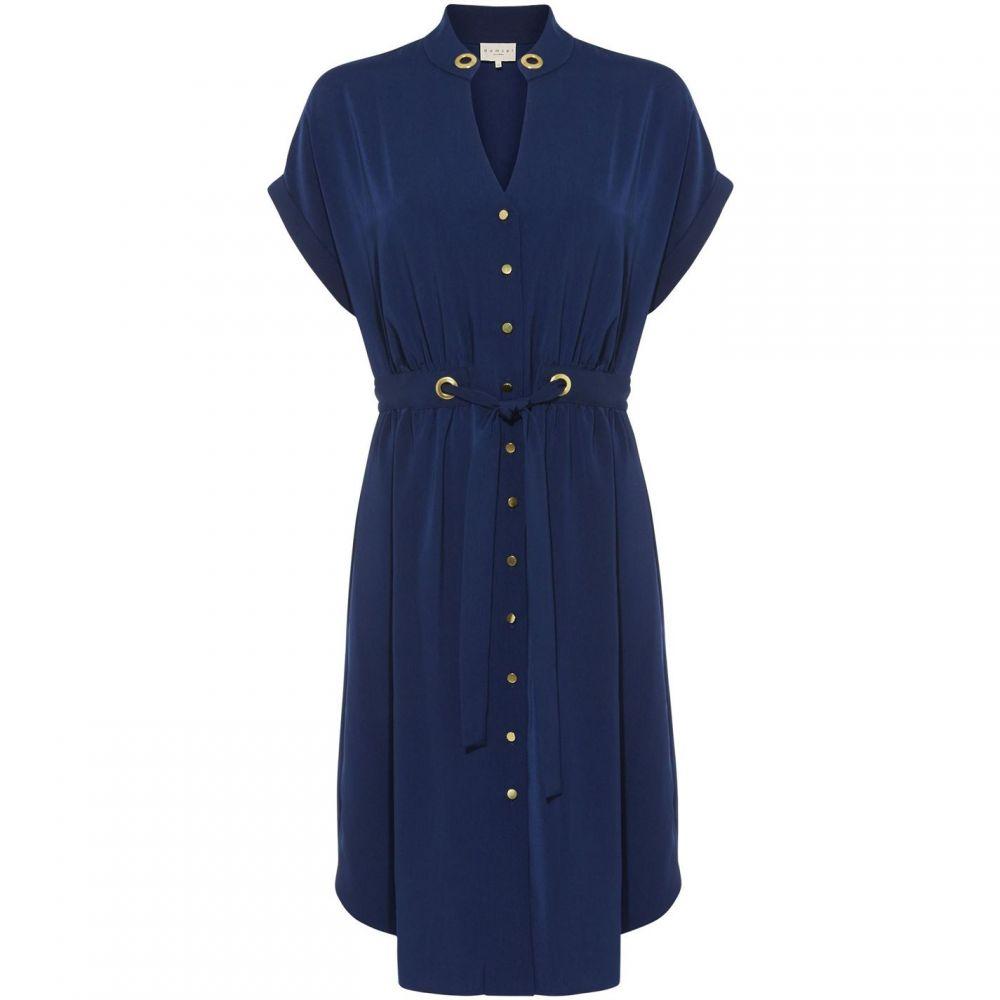 ダンセル Damsel in a Dress レディース ワンピース チュニックドレス ワンピース・ドレス【Hannah Short Sleeve Tunic Dress】Navy