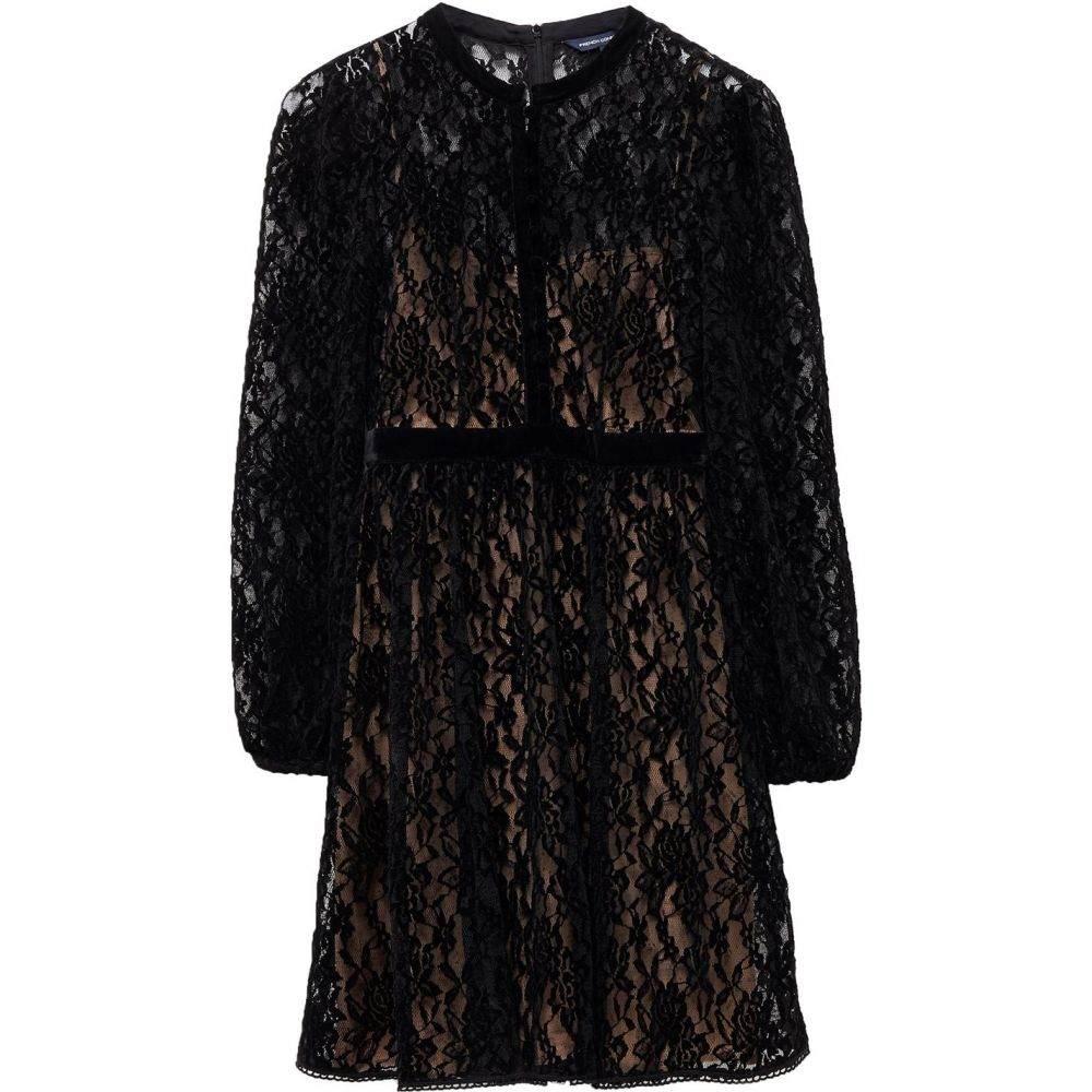 フレンチコネクション French Connection レディース ワンピース ワンピース・ドレス【Brielle Velvet Lace Mix Dress】Black