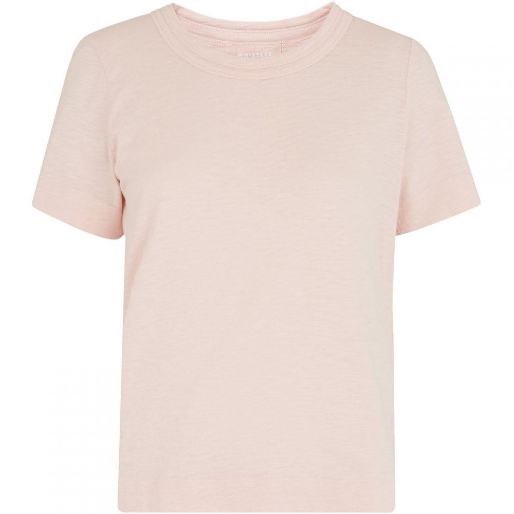 ホイッスルズ Whistles レディース Tシャツ トップス【Rosa Double Trim Tee】Pink