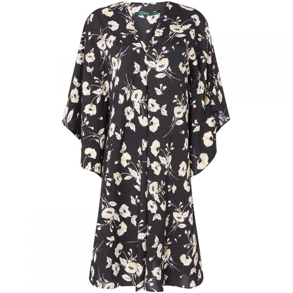 ローレンマーキン Lauren レディース ワンピース ワンピース・ドレス【Braedyn short sleeve floral dress】Black