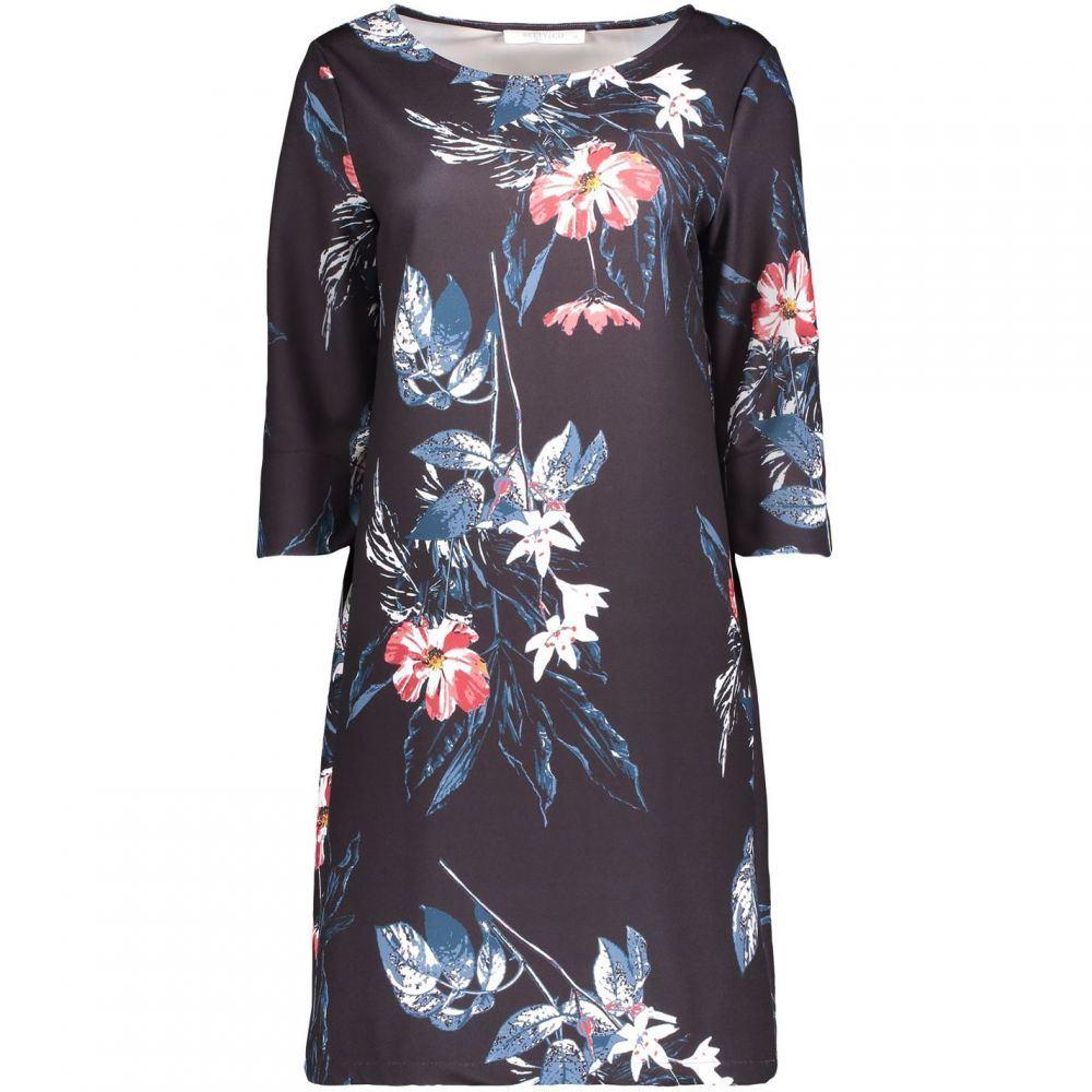 ベティー バークレイ Betty Barclay レディース ワンピース ワンピース・ドレス【Floral Print Jersey Dress】Dark Blue