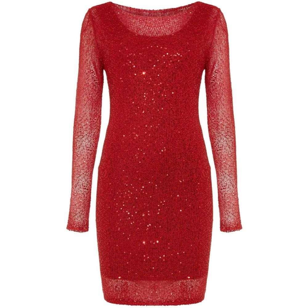 フェイズ エイト Phase Eight レディース ワンピース ワンピース・ドレス【Juana Sequin Knit Dress】Red