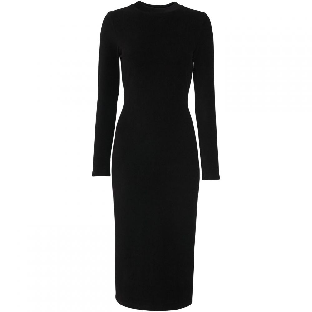 ホイッスルズ Whistles レディース ワンピース ワンピース・ドレス【Cord Velvet Jersey Dress】Black