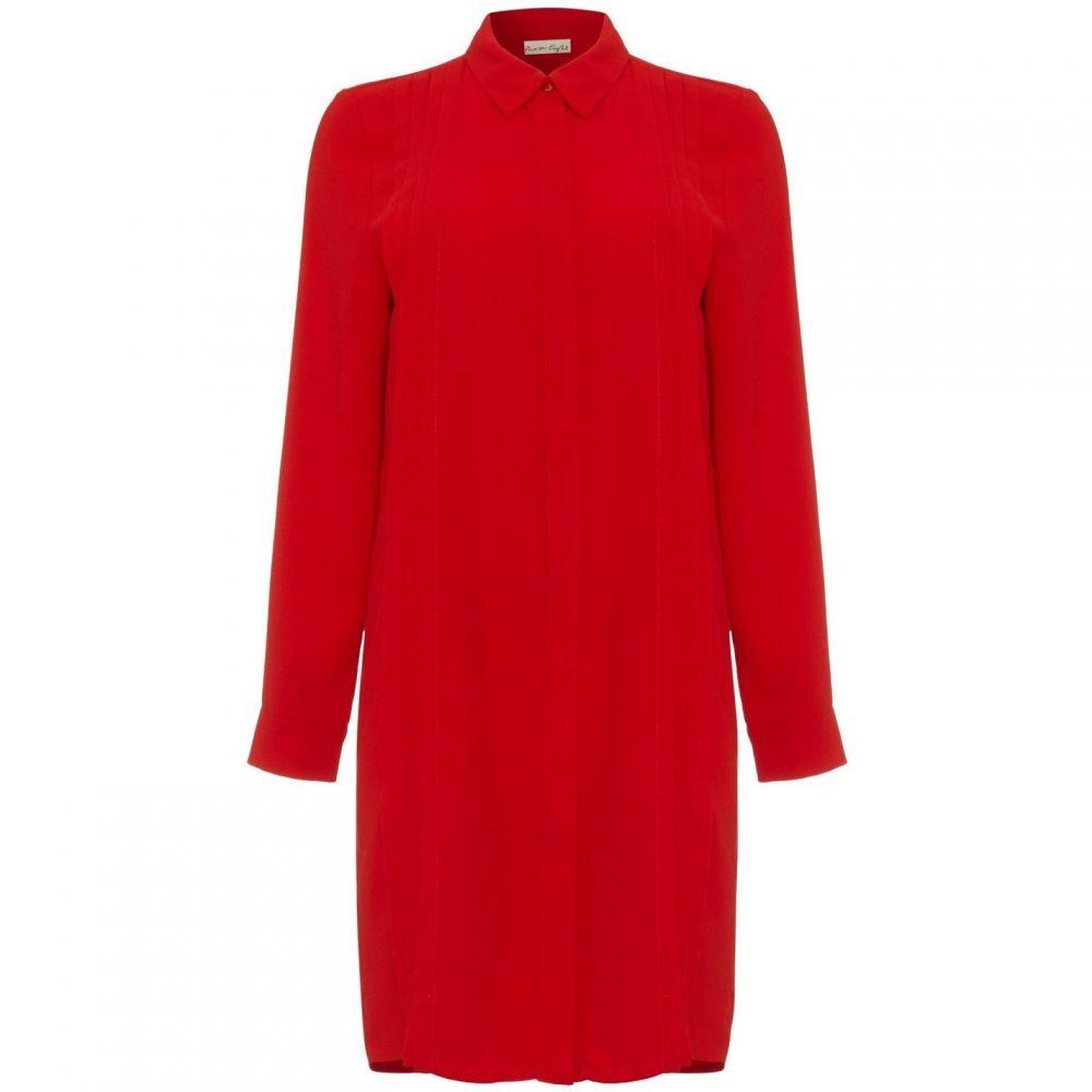 フェイズ エイト Phase Eight レディース ワンピース シャツワンピース ワンピース・ドレス【Dolunay Pleat Front Shirt Dress】Red