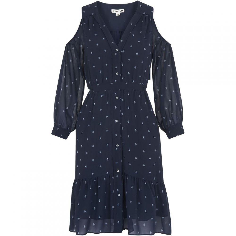 ホイッスルズ Whistles レディース パーティードレス ワンピース・ドレス【Fleur de Lis Print Dress】Navy/Multi