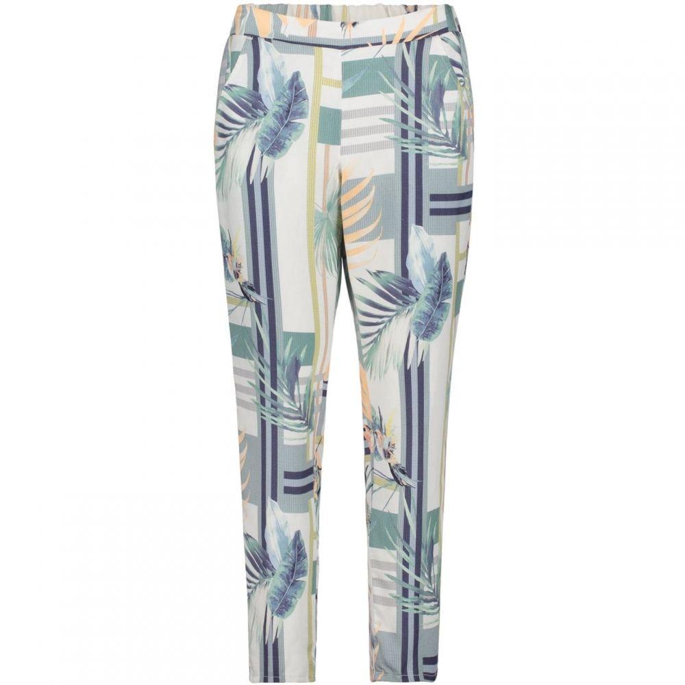 ベティー アンド コ- Betty and Co メンズ ボトムス・パンツ 【Leaf Print Trousers】White/Emerald