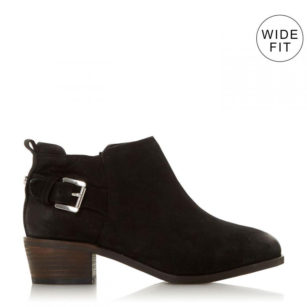 デューン Dune London レディース ブーツ ショートブーツ シューズ・靴【Wf Piera Buckle Side Zip Ankle Boots】Black