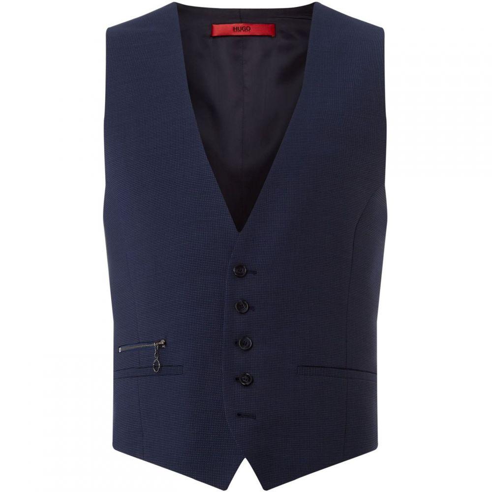 ヒューゴ ボス Hugo メンズ ベスト・ジレ トップス【Vin Extra Slim Two Tone Three-Piece Waistcoat】Navy