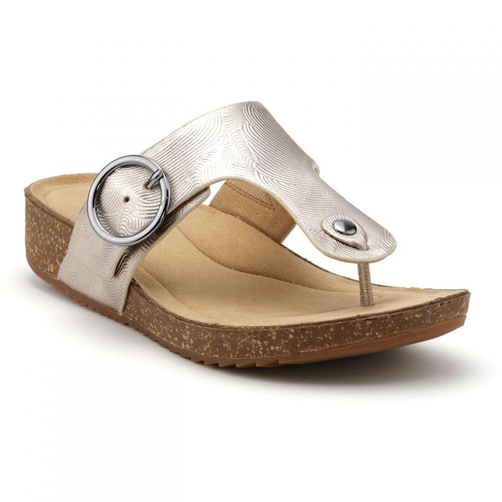 フーター Hotter レディース サンダル・ミュール シューズ・靴【Resort Toe-Post Sandals】Gold