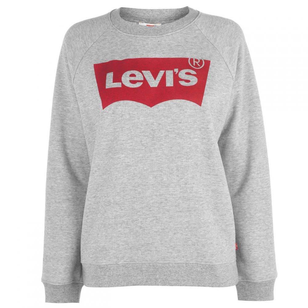 リーバイス Levis レディース スウェット・トレーナー トップス【Relax Logo Sweatshirt】Grey