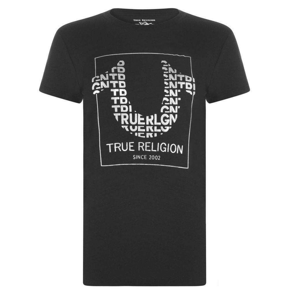 トゥルー レリジョン TRUE RELIGION レディース Tシャツ トップス【Horse Shoe T Shirt】Black