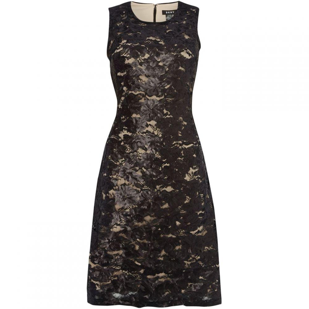 ダナ キャラン ニューヨーク DKNY レディース ワンピース ノースリーブ ワンピース・ドレス【Sequin sleeveless dress】Black