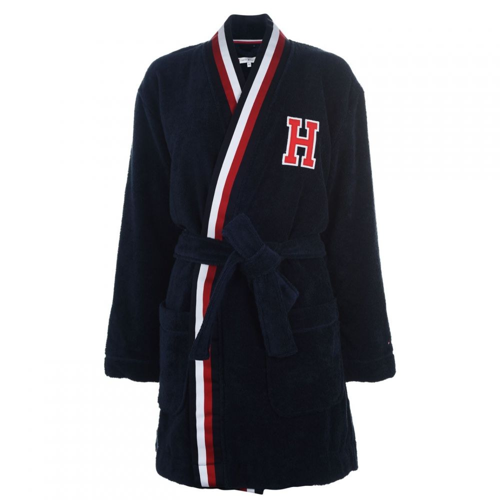 トミー ヒルフィガー Tommy Bodywear レディース ガウン・バスローブ インナー・下着【Classic Logo Robe】Navy Blazer