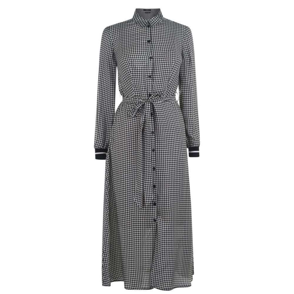 セット SET レディース ワンピース ワンピース・ドレス【Check Tie Dress】BlackWhite