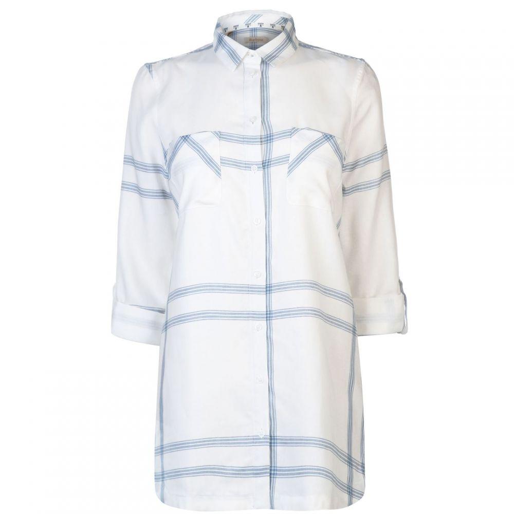 バブアー Barbour Lifestyle レディース ブラウス・シャツ トップス【Barbour Baymouth Long Shirt】WHITE/BLUE