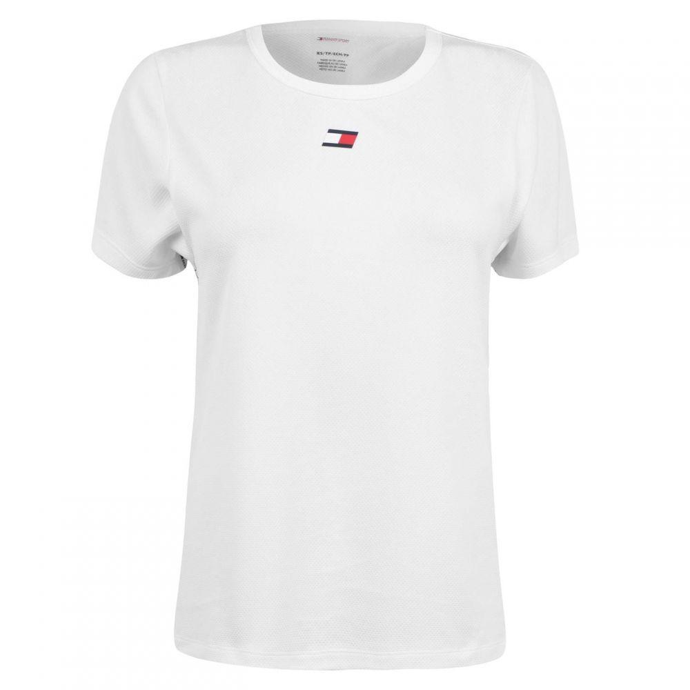 トミーヒルフィガー Tommy Sport レディース Tシャツ トップス【Tape T-Shirt】White