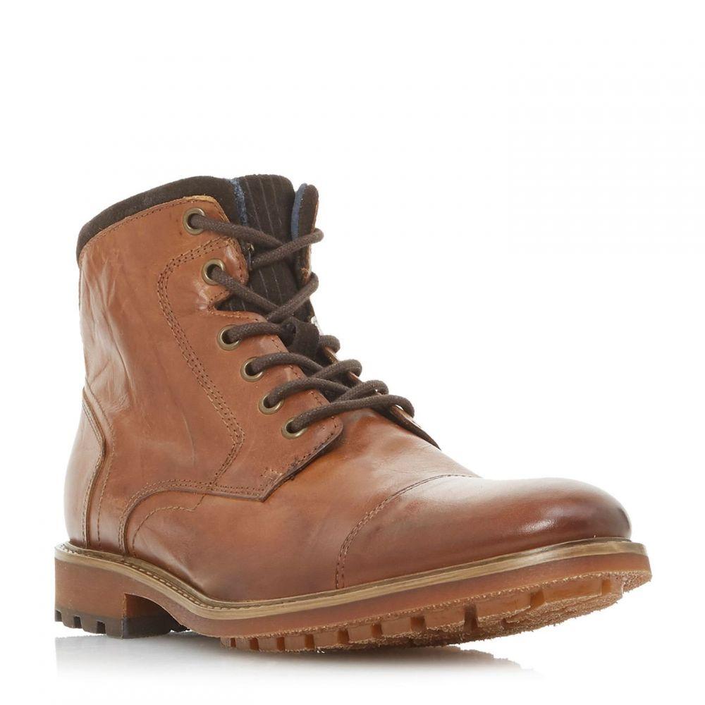デューン Dune London メンズ ブーツ レースアップブーツ シューズ・靴【Chef Toecap Lace Up Boot】Tan