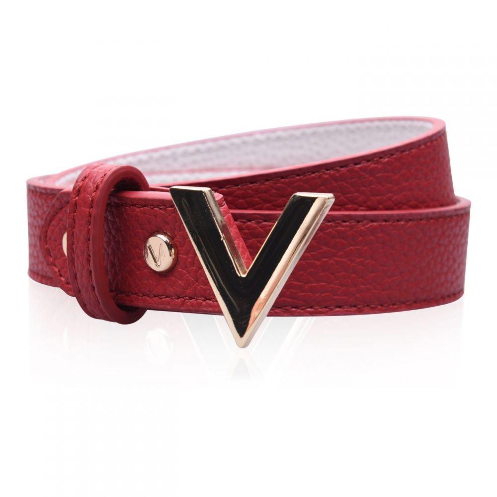 マリオ ヴァレンティーノ Mario Valentino レディース ベルト 【V Forever Belt】ROSSO