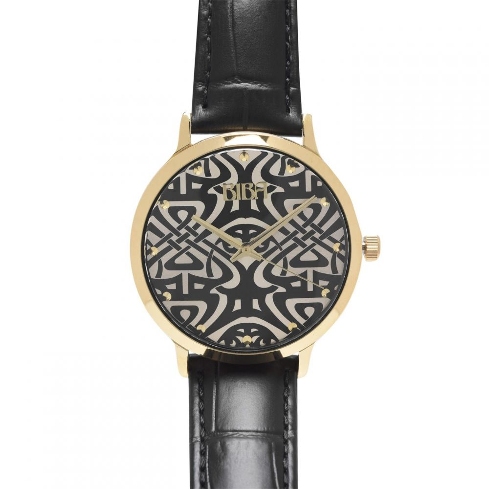 レディース 【Logo Croc Watch】Black 腕時計 Biba ビバ Dial